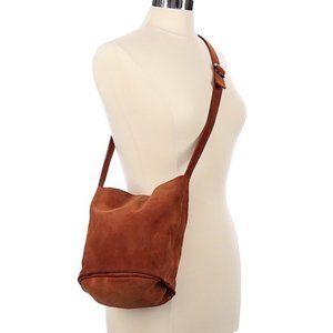Urban Outfitters Lulu  Suede Bucket Bag Brown